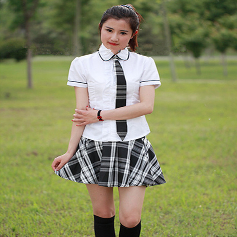 Hot Sales Japanese School Girl Uniform White Skirt -7628