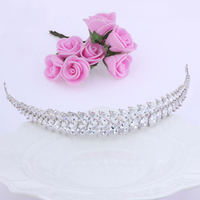 2017 New Wedding Hair Accessories Leaves Classic Simple Tiara Women Elegant Tiara Anniversary Gift Haar Accessoires