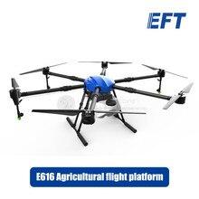 EFT E616 16L сельскохозяйственный аэрозольный Дрон, платформа полета 1630 мм, гексакоптер, водонепроницаемый, 16 кг, защита растений, БПЛА, рама, комплект, 35 мм дужки