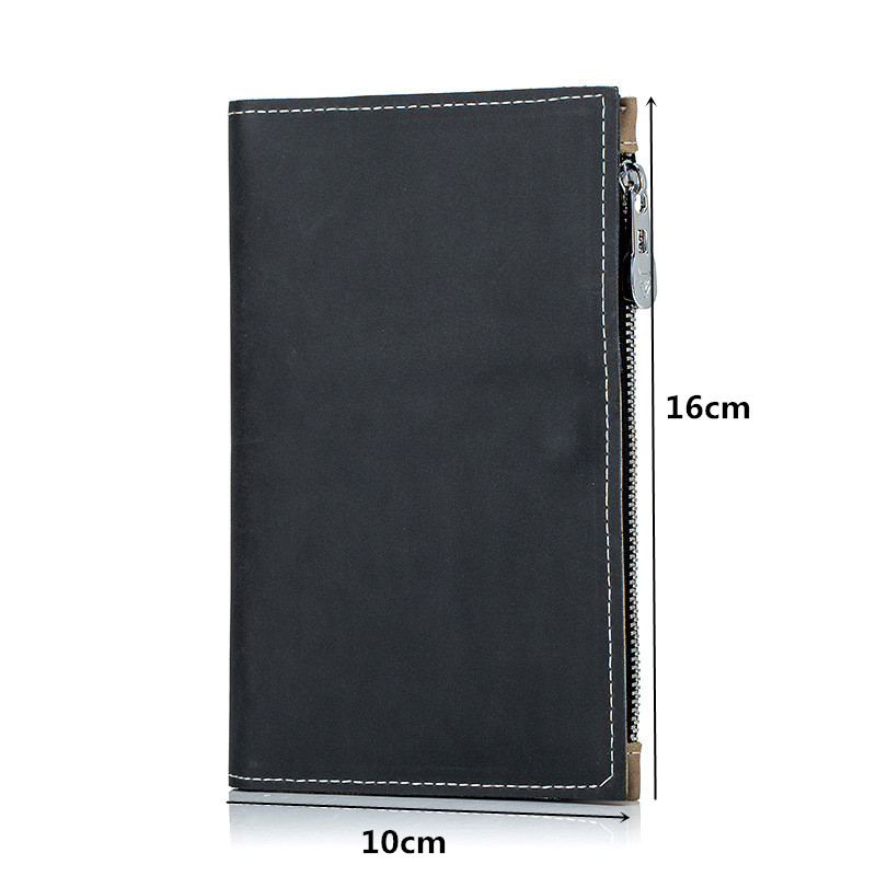 Travel Wallet Passport Holder-Split Leather Multifunctional Passport Organizer for Card Coin khaki SIM Card