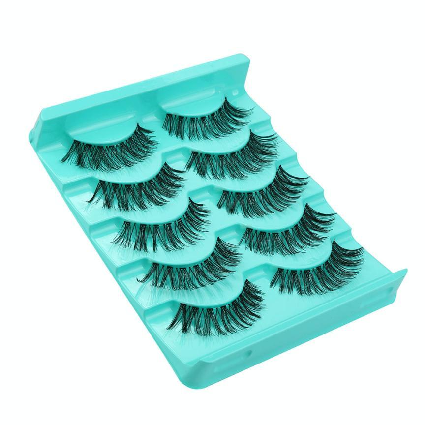 New Top Fashion Big sale! 5 Pair/Lot Crisscross False Eyelashes Lashes Voluminous Hot Eye Lashes mink individual eyelash Anne