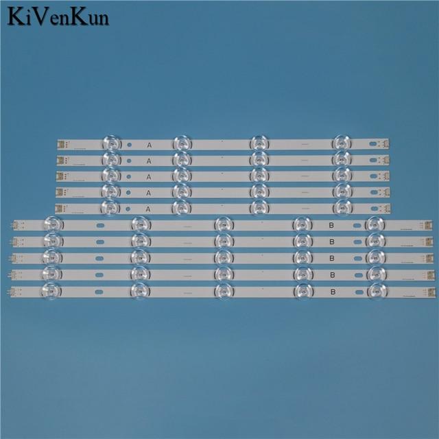 """LED テレビバックライトストリップランプ Lg 55LB652T LG55LB652T TB イノテック YPNL DRT 3.0 55 """"バー HD レンズキット LED 10 バンド"""
