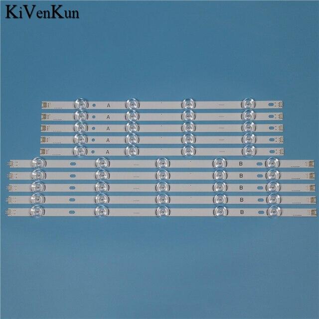 """TV LED Lampada Striscia di Retroilluminazione Per LG 55LB652T LG 55LB652T TB INNOTEK YPNL DRT 3.0 55 """"Bar HD Lens Kit LED 10 bande"""