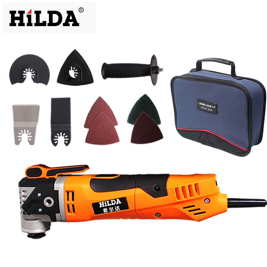 HILDA Multi Function Electric Saw Renovator Tool Oscillating Trimmer Home Renovation Tool Trimmer woodworking Tools Bag