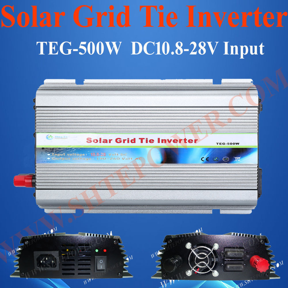 500w Grid Tie Solar Inverter, DC 12V, 24V input, AC 230V Output, On-grid Inverter