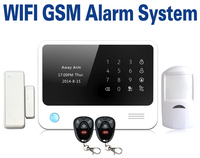 Home security alarm system LCD touch display Android&IOS app control wifi gsm alarm system with sos function Hot sale