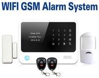 Venta caliente pantalla táctil LCD sistema de alarma de la seguridad casera IOS Android app control wifi sistema de alarma gsm con función de sos