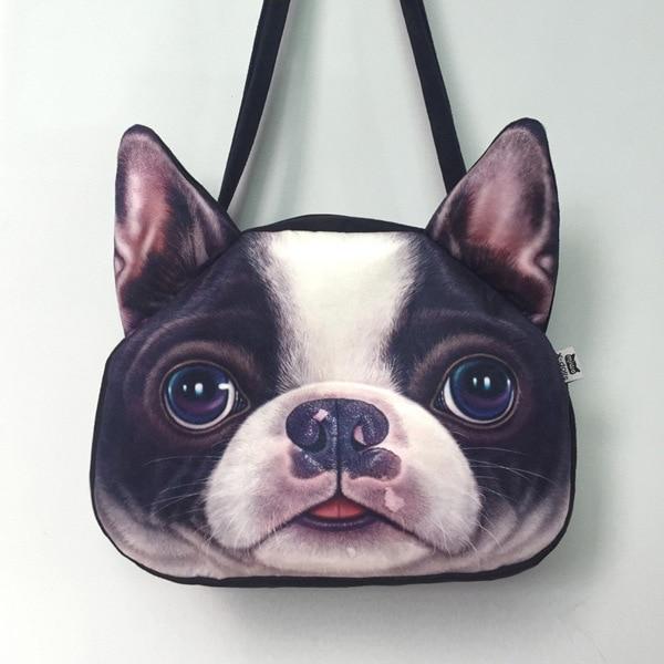 17b02c736aed US $11.4 |3D Dog Shape bag Women Single Shoulder Bag Handbag Tote Woman Dog  face bags Large casual travel shopper bag unique cool Husky-in Top-Handle  ...