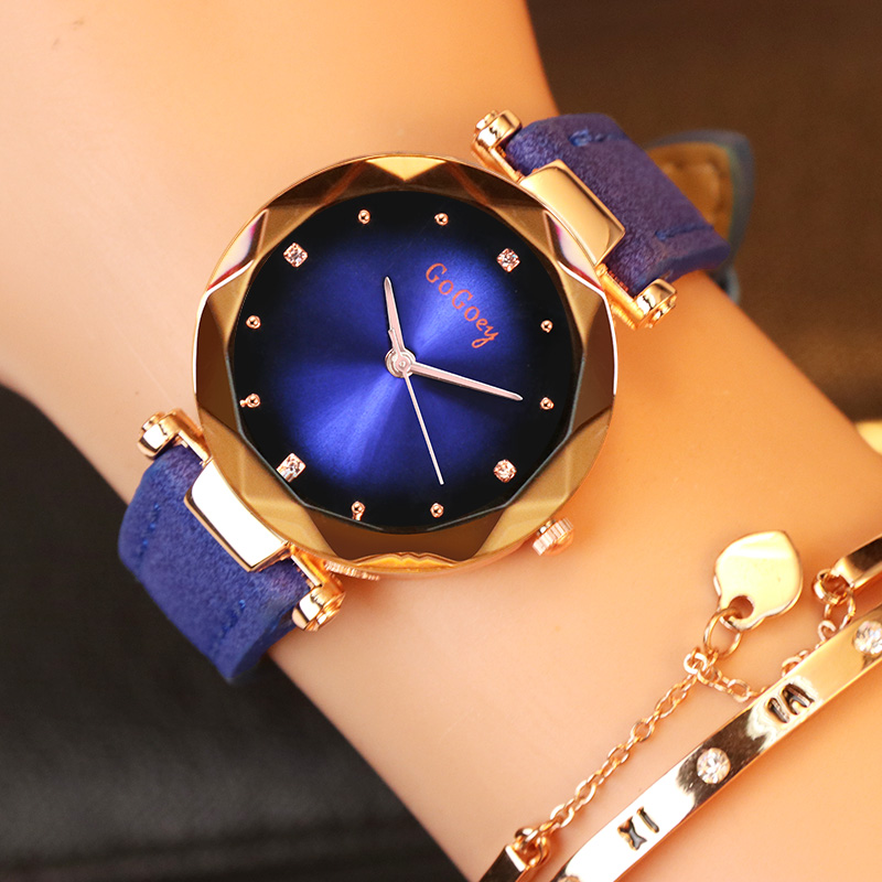 Crystal Womens Watches Luxury Dress Relojes Brand Gogoey