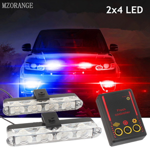 2x4 Led Strobe Warning Police Light Automobiles 12V Car Truck Flashing Firemen Ambulance Emergency Flasher DRL Day Running Light(China)