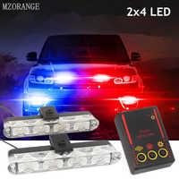 2x4 led stroboscope avertissement Police lumière automobiles 12V voiture camion clignotant pompiers Ambulance d'urgence clignotant DRL jour lumière courante