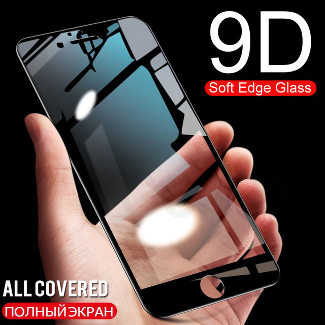 Full Cover 9D Curved Tempered Glass on the For iPhone 6 6S 7 8 Screen Protector For iPhone 6 6S Plus 7 8 Plus Protective Film
