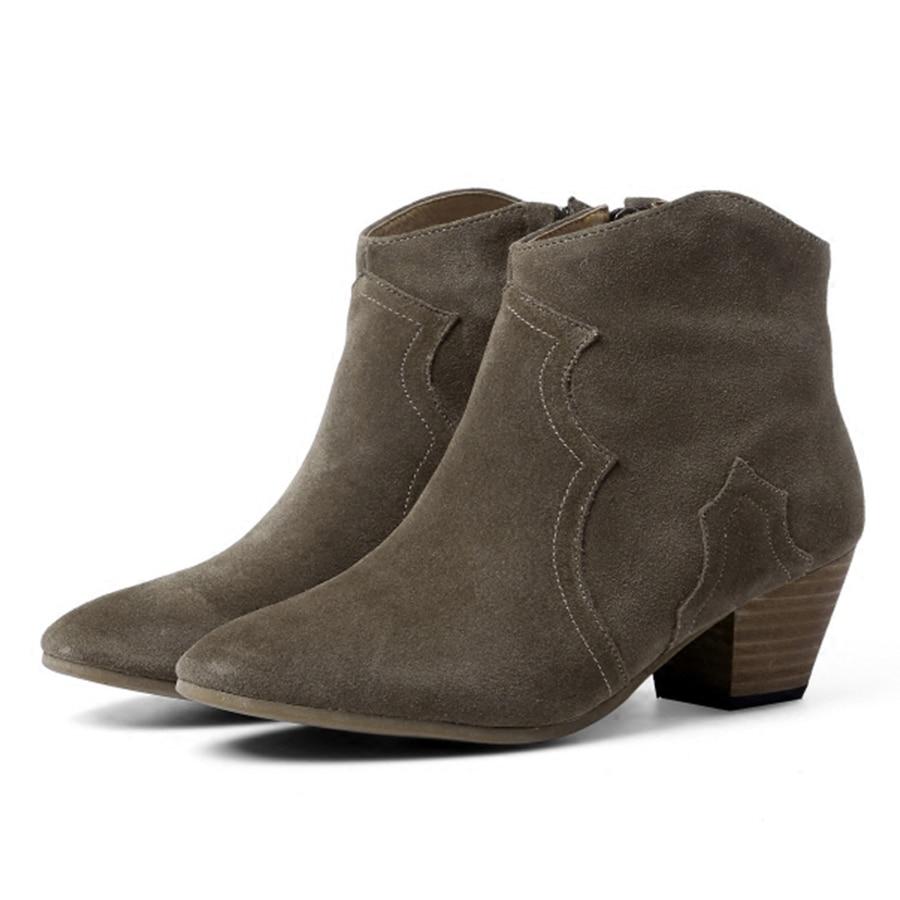 Nuovo di alta qualità scarpe in pelle di mucca, signore a piedi scarpe di cuoio delle Donne e scarpe in primavera e in autunno stagione-in Stivaletti da Scarpe su  Gruppo 1