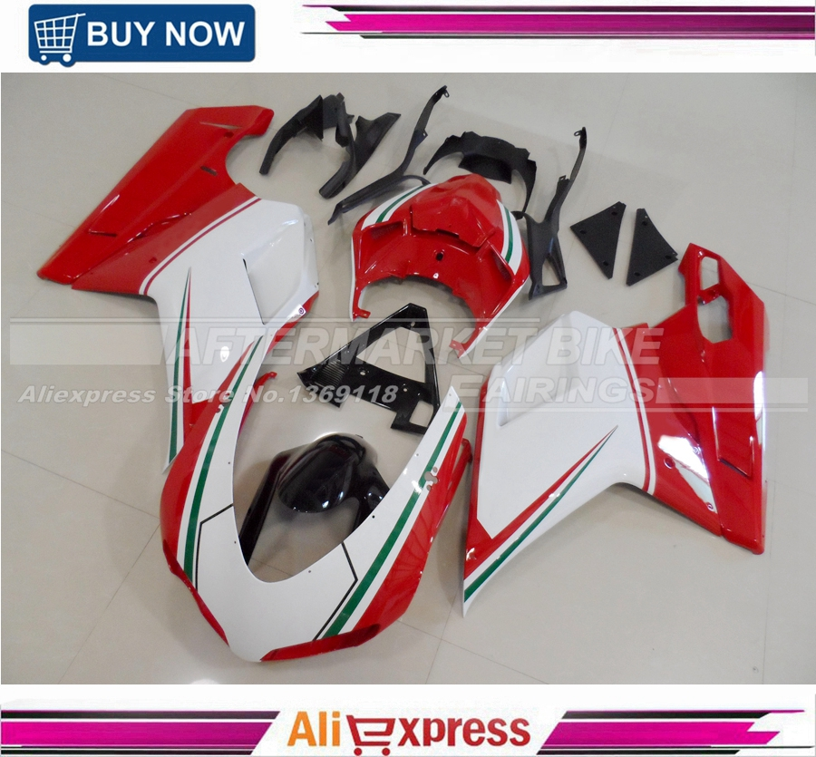 OEM Grade Quality ABS Plastic Injection Moulding For Ducati 1098 1198 848 Complete Fairing Bodywork Italian TRI-COLOR high quality custom injection mold abs plastic injection moulding
