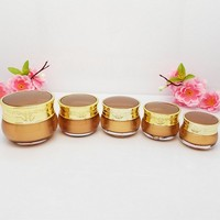 5g,10g,15g,20g,30g,50ml Acrylic Cream Jar Gold Empty Cosmetic Packing Container Sample Tins