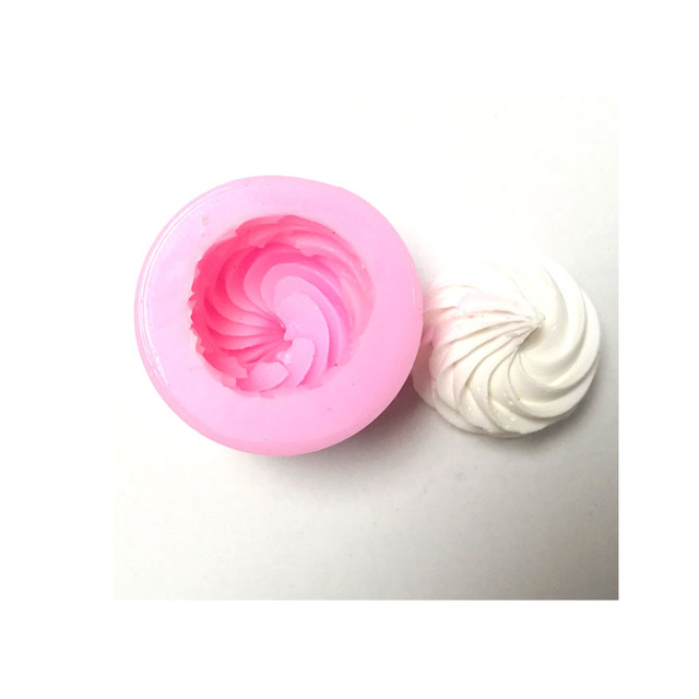 TILLWELL1381Cream Cookie Ice Cream Biscuit Chocolate Handmade Soap Silica Gel Mould Cup Cake Decorative Mould
