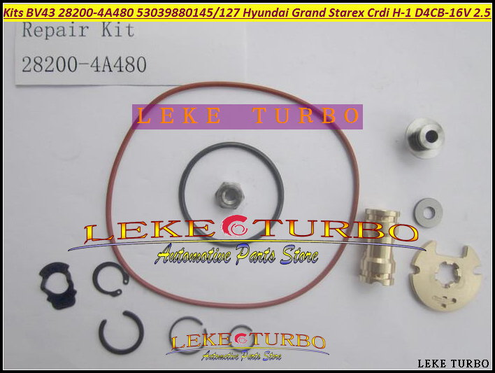 Turbo Rebuild Repair kit BV43 28200-4A480 53039880145 53039880127 53039700145 For Hyundai Grand Starex CRDI H-1 D4CB 16V 2.5L turbo rebuild repair kit bv43 53039880122 53039880144 53039700144 28200 4a470 282004a470 for kia sorento 2001 06 d4cb 2 5l crdi