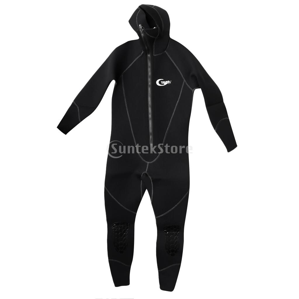 5mm Thick Neoprene Men Full Body Warm Wetsuit with Hood for Scuba Diving Spearfishing Surfing Underwater Hunting S/M 2016 new styles summer diving wetsuit for men father day s gift summer surfing costumes fine embossed wetsuit a1616