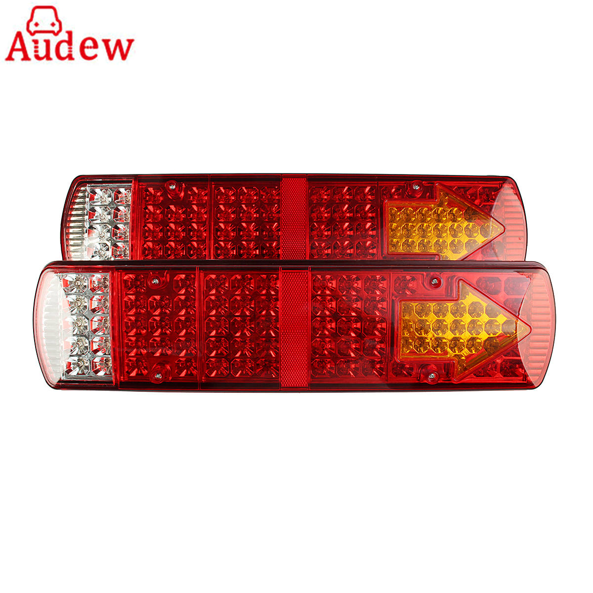 1Pair 24V Car Turn Lamp Rear Tail Lights LED Lamps 5 Function  for Trailer Lorry Truck Recovery 87 LED Red car styling tail lights for toyota highlander 2015 led tail lamp rear trunk lamp cover drl signal brake reverse