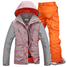 Gsou Snow ski suit for men skiing set snowboarding jacket and pants men snow skiing clothing waterproof windproof men ski sets cheap Fits larger than usual Please check this store s sizing info JERSEY