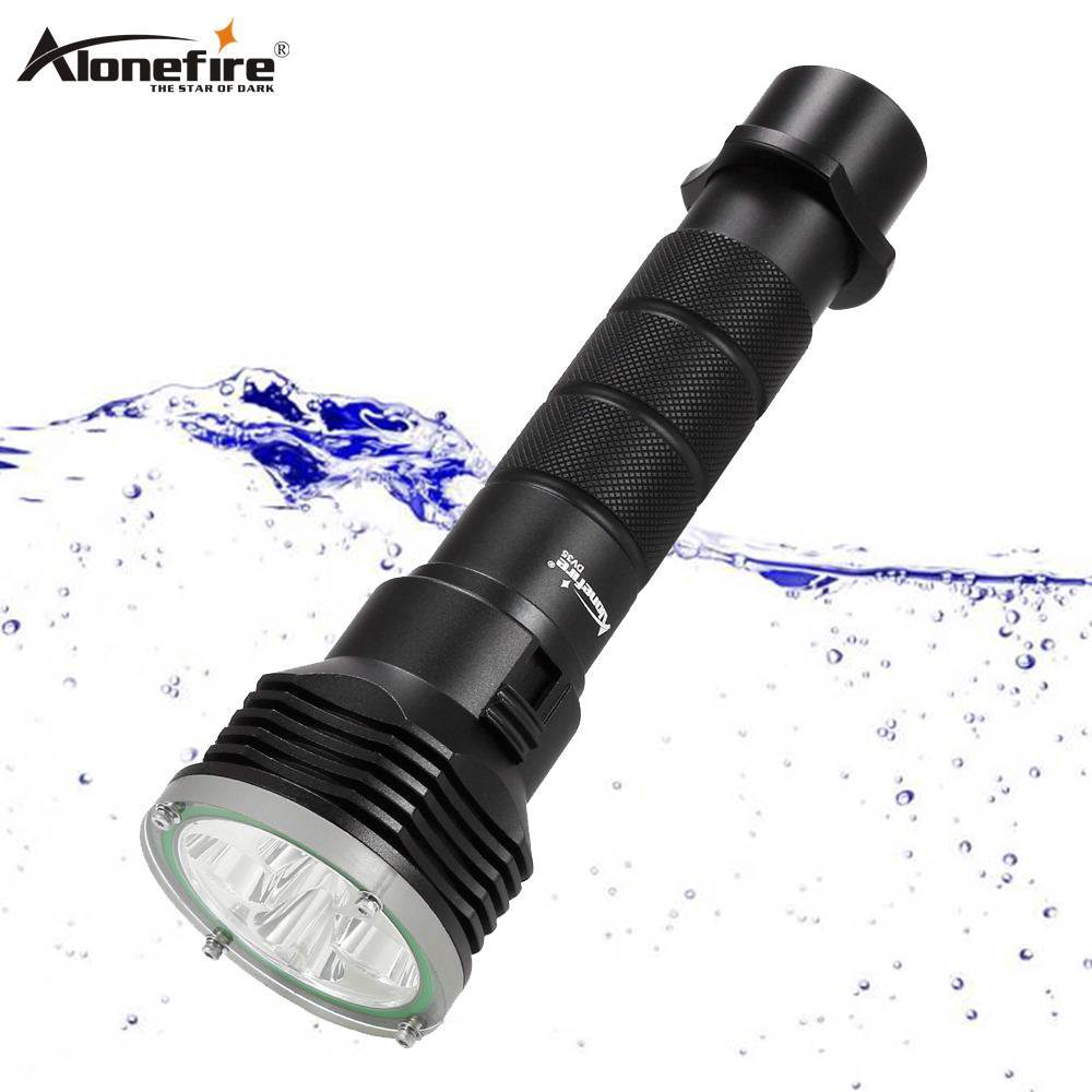 AloneFire DV35 diving underwater flashlight 5 x cree XM L L2 LED 26650 torch light waterproof