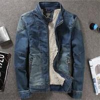 2016 New Winter Thick Velvet Men S Denim Jacket Warm Heart Design For You Aganist Cold