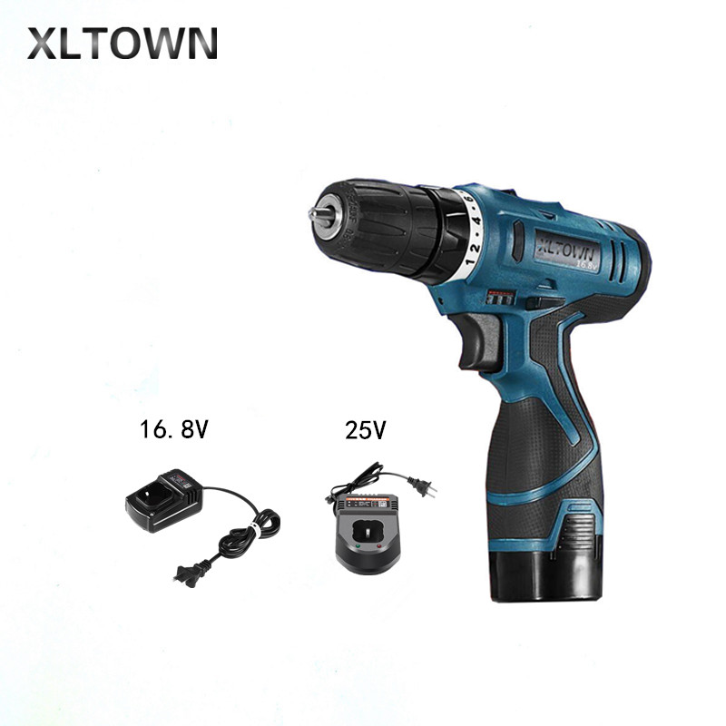 Xltown12/16.8/25v multi-function rechargeable lithium battery electric screwdriver household power tools mini electric drill