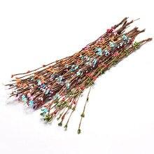 10 шт. 40 см бутон искусственные ветви цветок железная проволока для свадебного украшения DIY Скрапбукинг декоративный венок декоративные цветы
