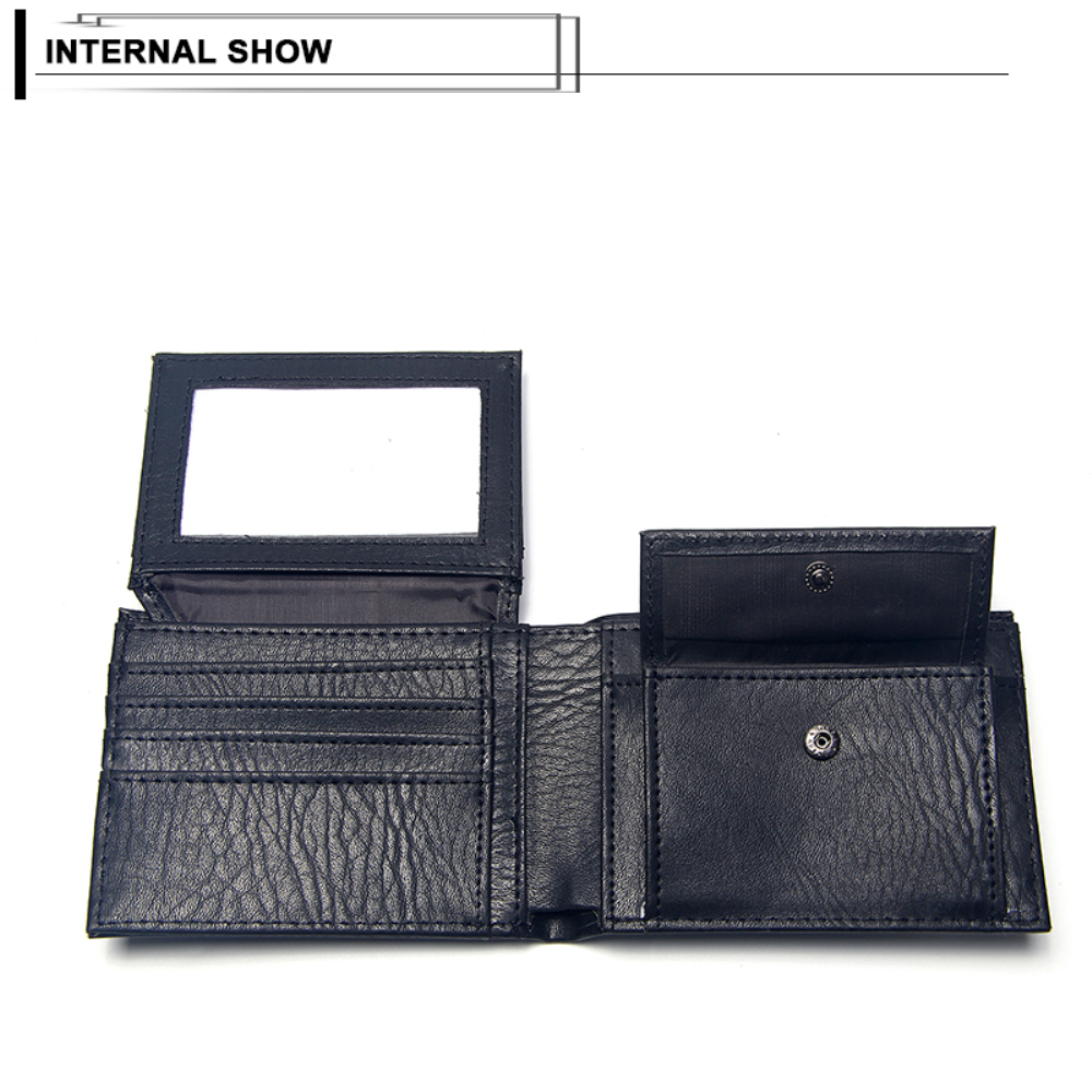 Luxury Men's Wallet Leather Solid Slim Wallets Men Pu Leather Bifold Short Credit Card Holders Coin Purses Business Purse Male