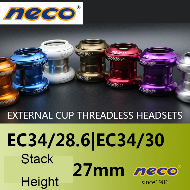 """New Bike Headsets External Fixed Gear Bicycle Headset 1-1//8/"""" For 34mm Head Tube"""