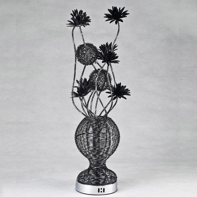 Free shipping lowest price aluminum string flower vase table lamp free shipping lowest price aluminum string flower vase table lamp novel hand made g44 mozeypictures Images
