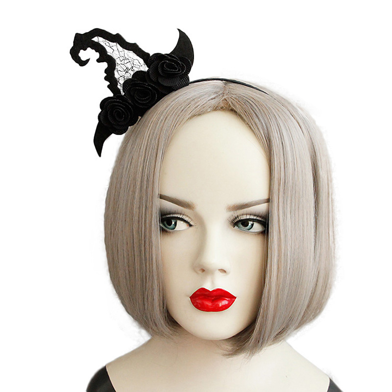 Kids,Girls Halloween Witches Long Hair Wig Headband CosplayFancy Dress Accessory