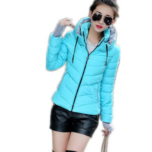 2017 Women Basic Down Hot Top Jacket Female Coat Slim Parkas Stand-Collar Outerwear  Sleeve Casual Short Cotton Warm Coat CQ332