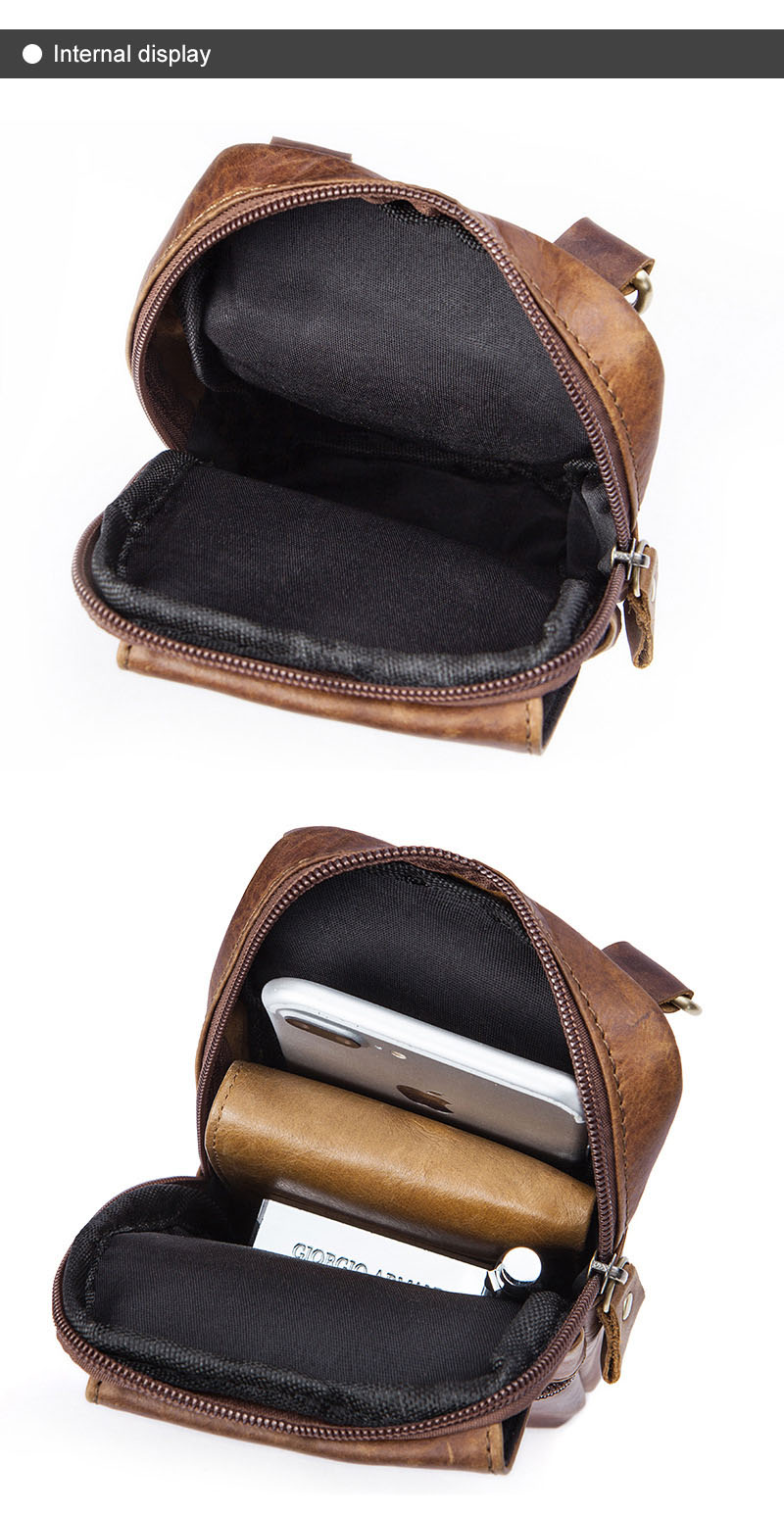 Topdudes.com - High Quality Genuine Leather Small Crossbody Bag