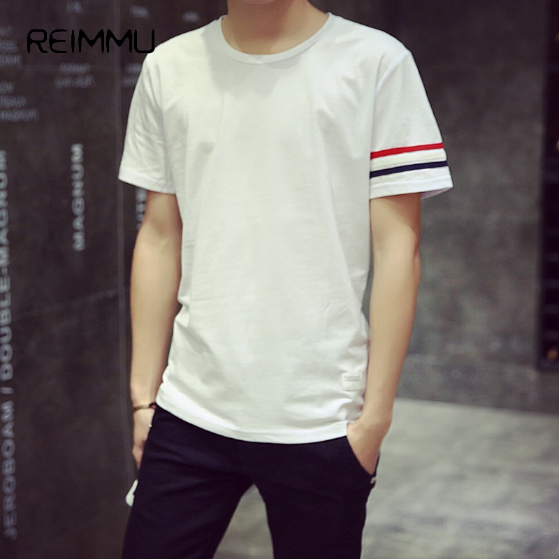 2017 new style famous brand mens tee shirts pure cotton for New look mens shirts