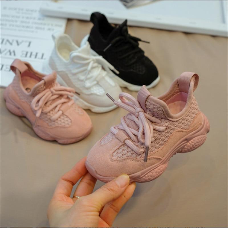 2020 новая весенне Осенняя детская обувь унисекс кроссовки для маленьких мальчиков и девочек сетчатые Дышащие Модные Повседневные детские туфли размер 21 30 Кроссовки      АлиЭкспресс