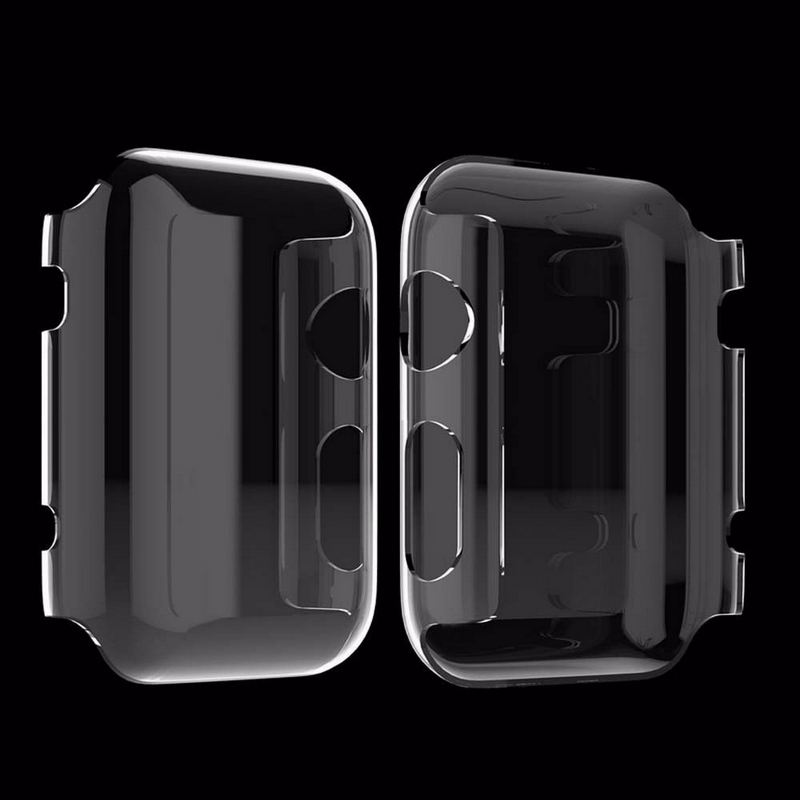 Transparent Frame Case Clear Ultra Thin Hard PC Protective Cover For Apple Watch Series 3 2 1 Iwatch 38mm Iwatch 42mm