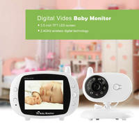 (1 PCS)3.5 Wireless Baby Monitor WiFi 2.4GHz With Two Way Intercome 8IR LED 3 Lullabies Baby Camera Security Surveillance