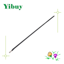 Yibuy Silver Black 580mm Length 9mm Dia Steel Double Style Guitar Truss Rod