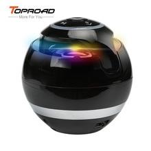 Toproad Bluetooth Speaker Wireless Portable Bass Speaker Mini Sound Box Caixa De Som Bluetooth Receiver with FM Radio LED TFCard