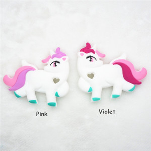 Image 2 - Chenkai 10PCS BPA Free DIY Baby Shower Pacifier Dummy Teether Sensory Toy Accessories Silicone Unicorn Teether