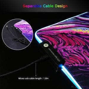 Image 3 - Sovawin 800x300 גדול גדול LED RGB תאורה משחקי שטיחי עכבר XL גיימר מחצלת גרנדה משטח עכבר cs ללכת Hyper חית עבור מחשב מחשב