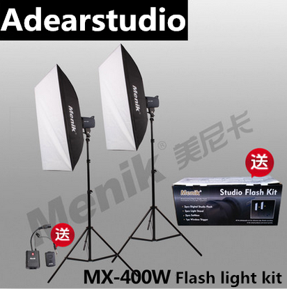 Menik MX-400W Professional Photography Studio Strobe Flash Light Monolight Lighting Kit for Portrait Photography Shoots NO00DC Menik MX-400W Professional Photography Studio Strobe Flash Light Monolight Lighting Kit for Portrait Photography Shoots NO00DC