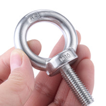 1Pc M10*30mm 316 Stainless Steel Eyebolt Lifting Eye Bolts Ring Screw Loop Hole Bolt Nuts Hardware For Cable Rope Lifting