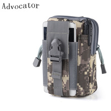 Advocator Men 5.5′ Camouflage Nylon Fanny Bag Mobile Phone Travel Waist Pack Bag Military Men Waist Fanny Pack Waist Belt Bag