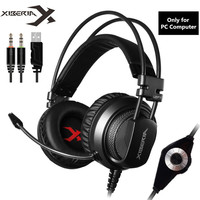 XIBERIA V10 Gaming Headphones Casque Computer Stereo Game Headset With Microphone Mic LED Light For PC
