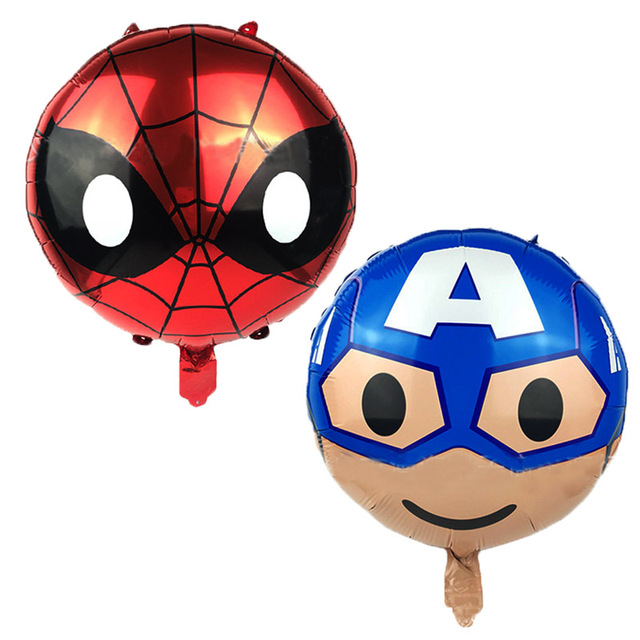 50 Pcs Brinquedo Do Bebê de Super-heróis Capitão América Superman Spiderman Balão de Hélio Decorações Do Partido balões Por Atacado 45 CM