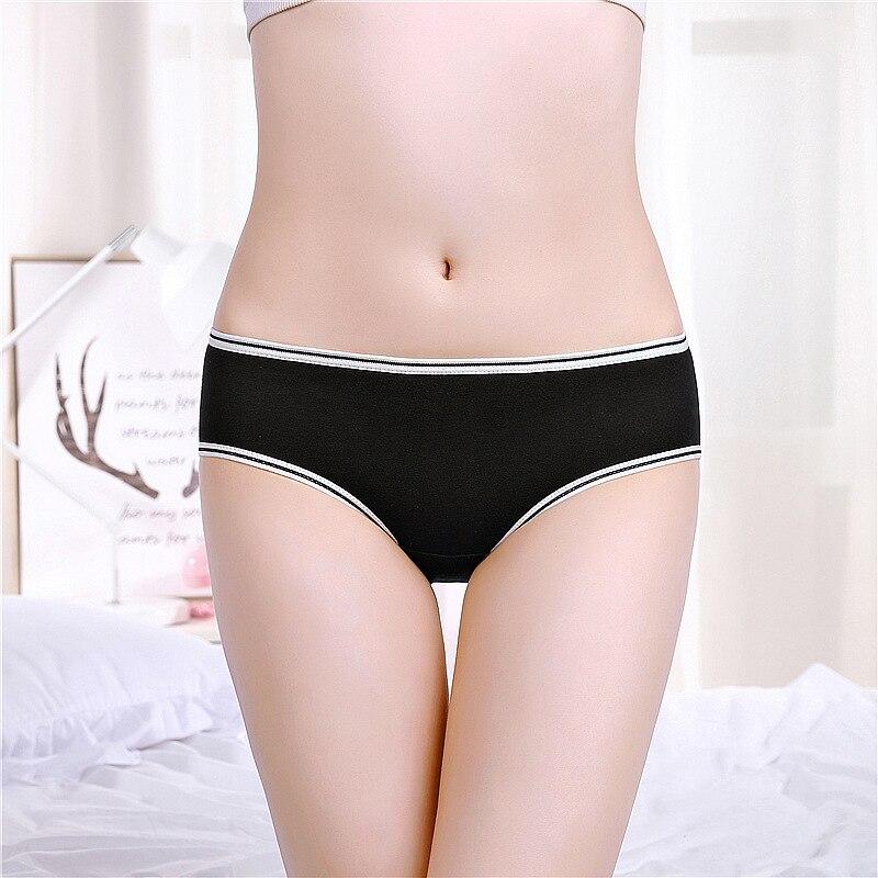Sale Ladies Solid Soft Briefs Underwear Women Cotton waistline Breathable Underpants   Panties