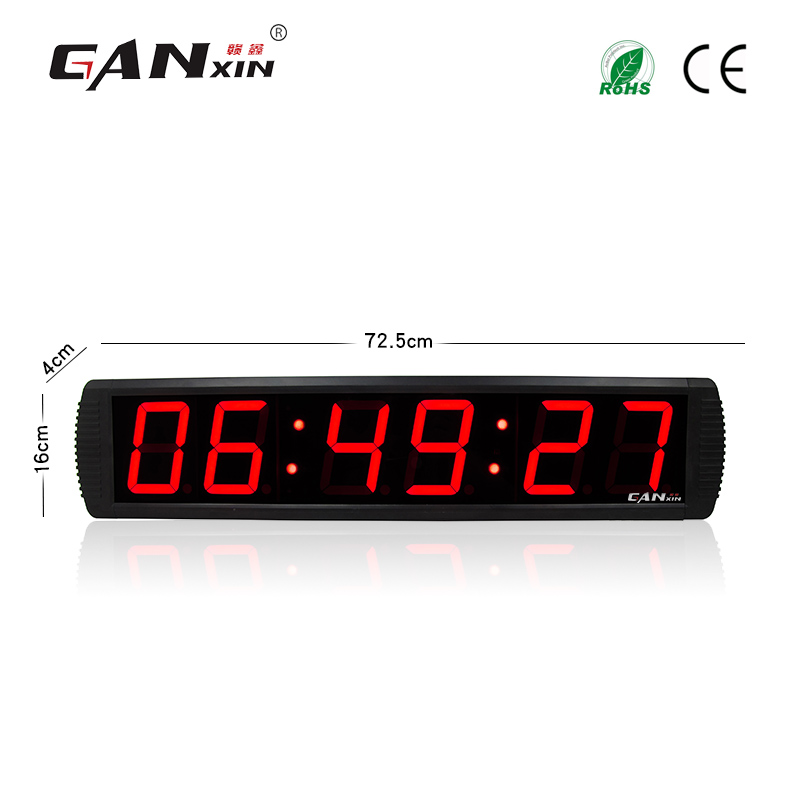 [GANXIN]Alibaba express remote control wall clock sticker digital alarm clock
