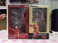 20cm The iron lady iron man doll Anime Figure PVC Collection Model Toy Action figure for friends gift
